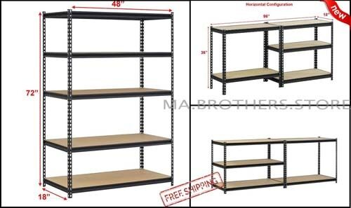 edsal urs 245 workforce heavy duty steel storage rack with 5 shelf - Edsal