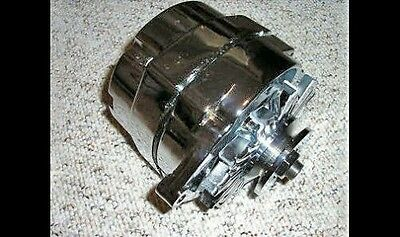 CHROME 100 Amp One 1 Wire Alternator GM Chevy Olds Pontiac SBC BBC