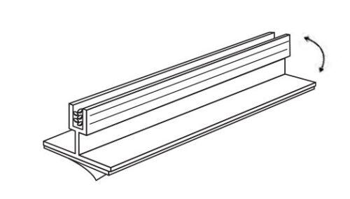 "3"" Adhesive Grip Sign Card Holder for Gondola Metal Wood & Glass Shelves- HINGED"