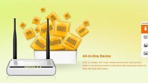 Tenda W300D 300Mbps Wireless N ADSL2+ Modem Router