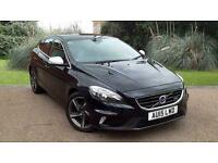 Volvo V40 1.6TD D2 R-Design Manual 5 Door Hatchback Black 2015