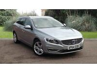 VOLVO V60 D5 SE LUX NAV ESTATE 2.4 D DIESEL AUTOMATIC ELECTRIC SILVER
