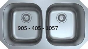 "STAINLESS STEEL SINK - 50 /50 32"" WIDE 9"" DEEP"