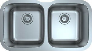 "30"" Stainless Steel Double sink - 28"" inside fit 30"" Cabinet"