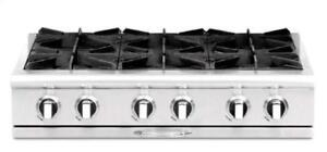 "https://aniks.ca/ Capital CGRT366N Culinarian Series 36"" Gas RangeTop Open Burners @ 25K BTUs Most Powerful Cooking"