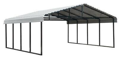 Arrow Carport 20 Ft. X 20 Ft. X 7 Ft. Eggshell Shelterlogic