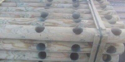 poste de madera de pino cerca palidez de la cerca redondeado impregnado...