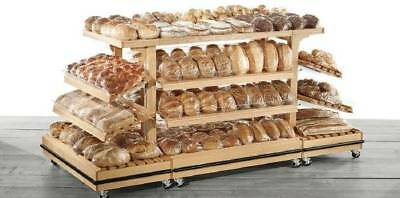 Jsi Store Fixtures 4 X 8 Bakery Shelving Island Baked Goods Display Table