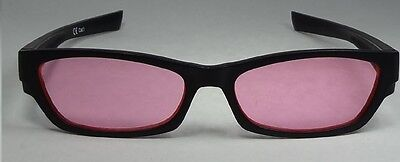 Happyeye Tinted glasses visual stress dyslexia overlays red/ pink adult