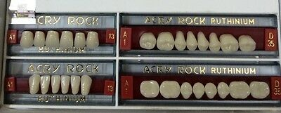 Dental Acrylic Teeth Full Set Acry Rock Ruthinium Size- 13