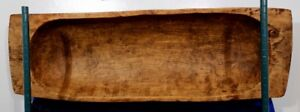 19th Century Hand Carved Large (50 in. X 16 in.) Poplar Trencher