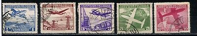 1960 Chile five Aerea stamps used
