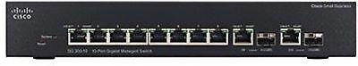 CISCO SYSTEMS Sg350-10P 10-Port Gigabit Managed Switch