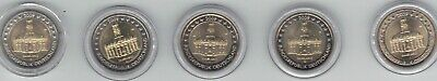 2 EURO COMMEMO ALLEMAGNE 2009 SAARLAND x 5