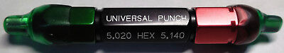 Universal Punch Tool Industrial Manufacturing Metalworking 5.020 Hex 5.140 5mm