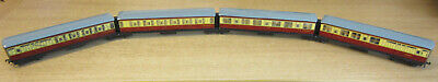 Hornby Dublo 3 Rail BR Ex LNER Crimson Cream 4 Car Articulated Coach Set