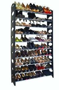 50 Pair 10 Tier Plastic Storage Organizer Shoe Tower Rack Petersham Marrickville Area Preview