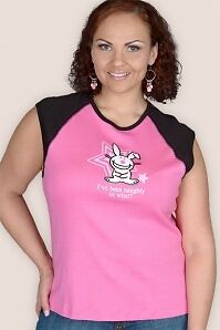 HAPPY BUNNY shirt & wristband 2005 LOT - NWT 1x xl hot topic torrid plus emo