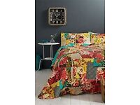 BHS VINTAGE MAISON QUILT BEDSPREAD AND CUSHIONS
