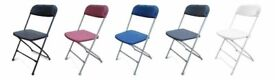 4000 NEW Folding Stackable Plastic Samsonite Chairs Catering Marquee Garden Black Blue Burgundy Grey