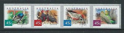 Australien 2001 Wüste Vögel Streifen von 4 Selbstklebend Perf 11.5 X 11 ()