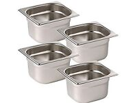Set of Gastronorm Pans and lids (various sizes)