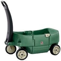 Plastic kids wagon & small outdoor slide or playset