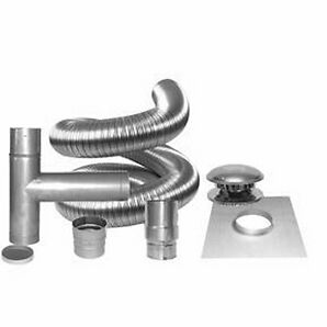 Stainless Steel Flex chimney liner kit
