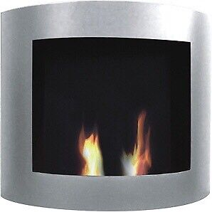 (New)Indoor/Outdoor Wall Mount Gel Fuel Fireplace Reduced price