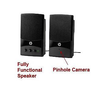 Spy-MAX Security  Computer Speakers Hidden Camera w/ DVR
