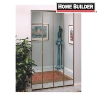 2-2 panel mirror closet doors (brass trimmed)