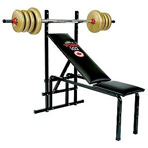 Bench press with bars and free weights/dumbbells