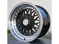 "brand new BBS RS style Alloy wheels 16"" inch x 9j 5x100 Toyota Avensis carina celica alloys wheel"