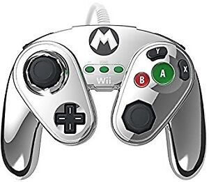 Nintendo Metal MARIO Wired Fight Pad for Wii U