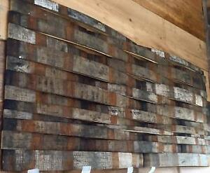 RECLAIMED WINE/WHISKEY BARREL / BARN BARNBOARD