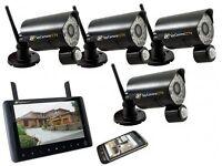 SPYCAMERACCTV WIRELESS RECORDING CCTV WITH 4 CAMERAS