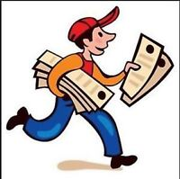 Now Hiring! Bathurst Area Flyer Delivery Once Per Week!