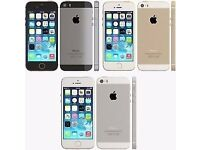 APPLE IPHONE 5S 16GB ( UNLOCKED ) MINT CONDITION COMES WITH WARRANTY & SHOP RECEIPT