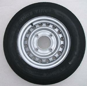 165R13C  94/92R 165 x 13 inch trailer tyre on 4 stud 5.5