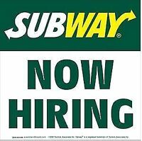 Subway: FULL/PART time Sandwich Artists Georgetown,ON