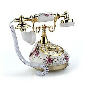 ANTIQUE PORCELAIN PHONE WITH MODERN FEATURES(NEW)