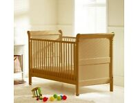 ** Immaculate Condition/Very Rarely Used ** - Saplings Cot and Junior Bed & 'Coolflow' Mattress