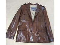 Beautiful Men's leather jacket size L never worn