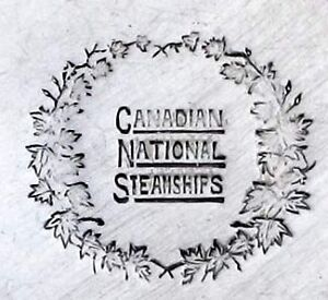 WOW1930 Canadian National Steamships Silver Plate Ice Cream Dish