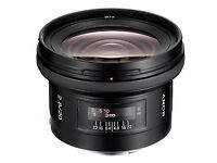 Sony wide angle 20mm A mount Lens