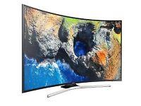 "SAMSUNG 55"" 4K ULTRA HD CURVED TV, LIKE NEW"
