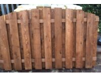 heavy duty double sided arch top fence panels