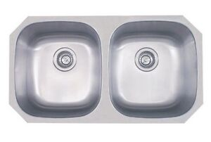 *** DEAL!  ÉVIER stainless NEUF double SOUS COMPTOIR SINK ***