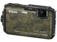 Nikon aw110 digital camera waterproof full hd. full gps wifi