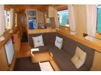 50ft cruiser stern narrowboat for sale with mooring